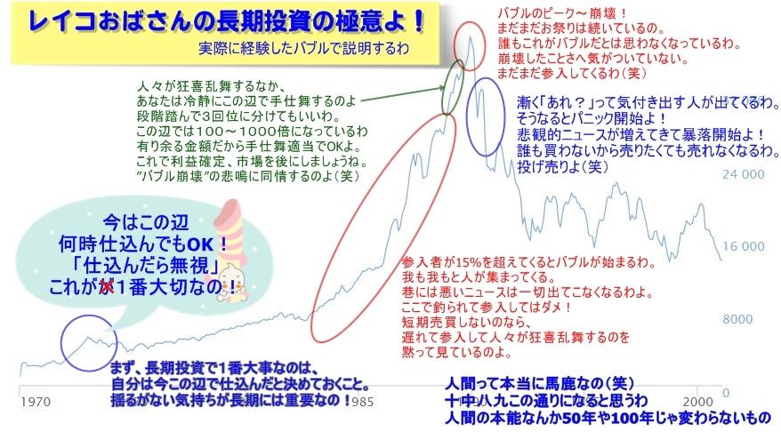 レイコおばさん若かりし頃の日本バブルの顛末図