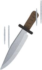 落ちてくるナイフを掴みに行くと怪我するわよ!